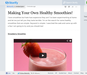 Storify:Making Your Own Healthy Smoothies